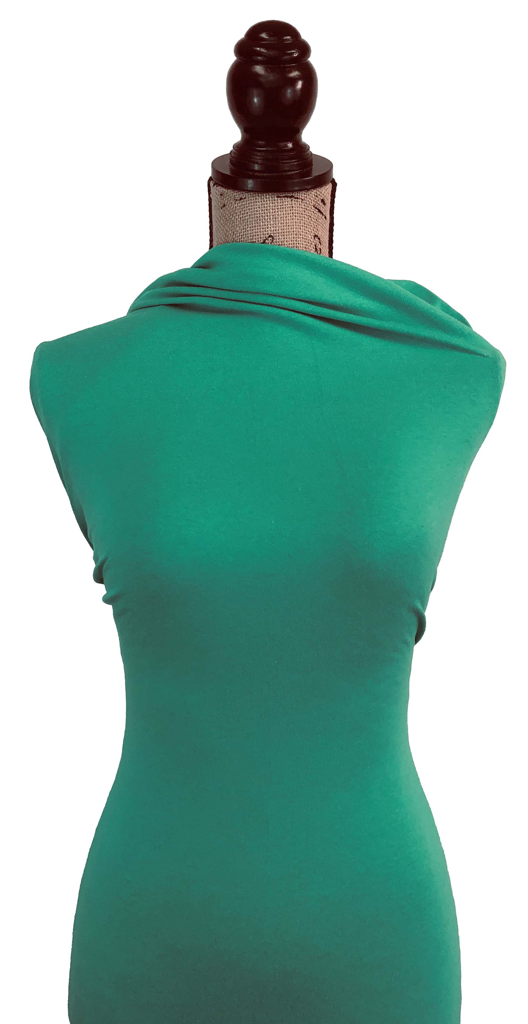 Cotton Spandex Solid - Atlantis Green