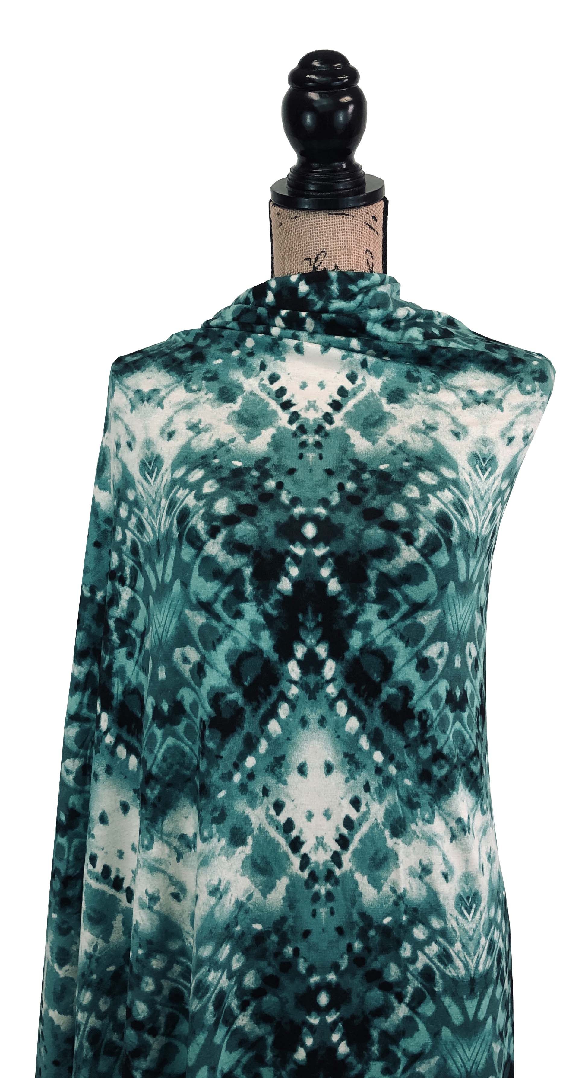 Rayon Spandex - Disco Fever in Jade