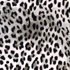 Double Brushed Poly - Animal Print in Ivory