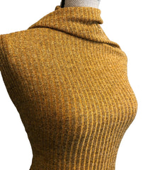 Sweater Knit Ribbed - Mustard