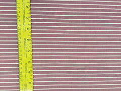 Double Brushed Poly Stripes - Mauve
