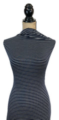 Rayon Spandex Stripes - Navy & Ivory (new)