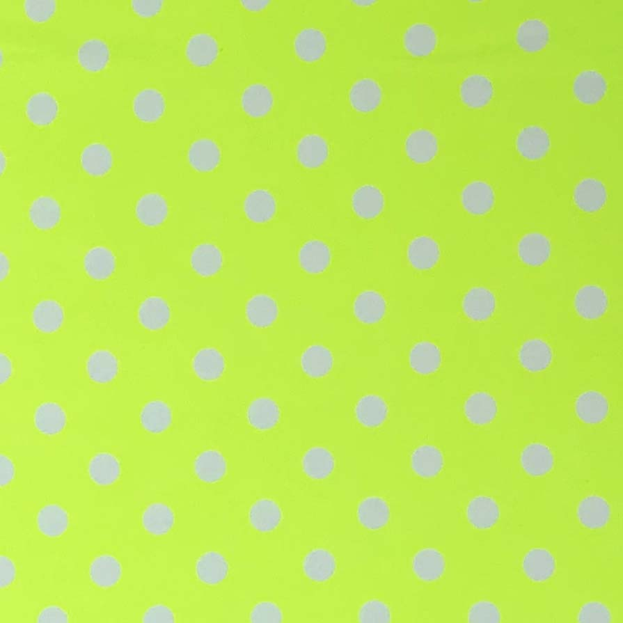 Double Brushed Poly Medium Dots (Sly Buy) - Neon Yellow Dots