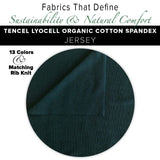 Natural Fabric: Tencel Lyocell Cotton Spandex Jersey - Coffee
