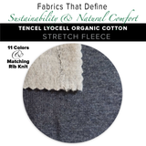 Natural Fabric: Tencel Lyocell Cotton Stretch Fleece - Black