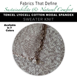 Natural Fabric: Tencel Lyocell Cotton Modal Spandex Sweater - Marine
