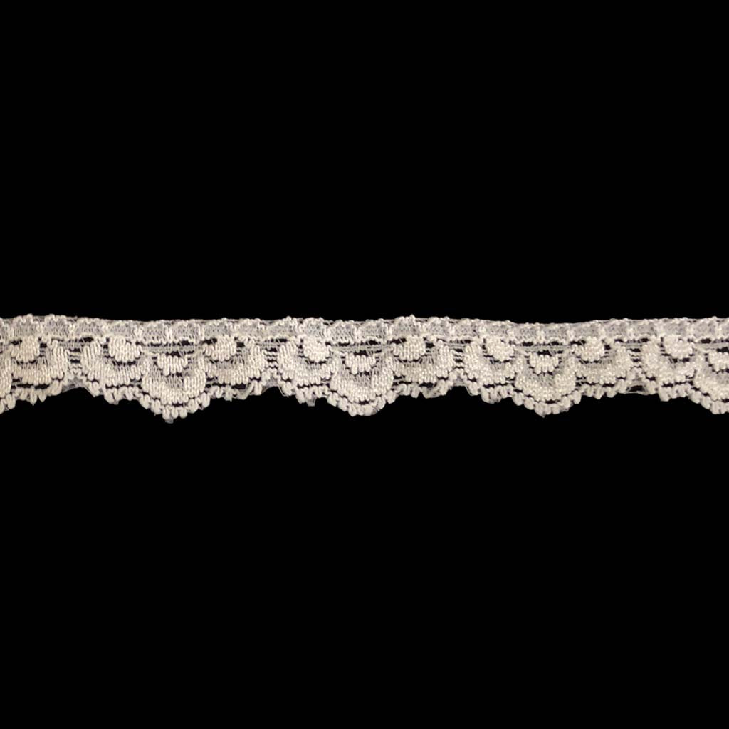 "Stretch Trim Lace - 1/2"" White"