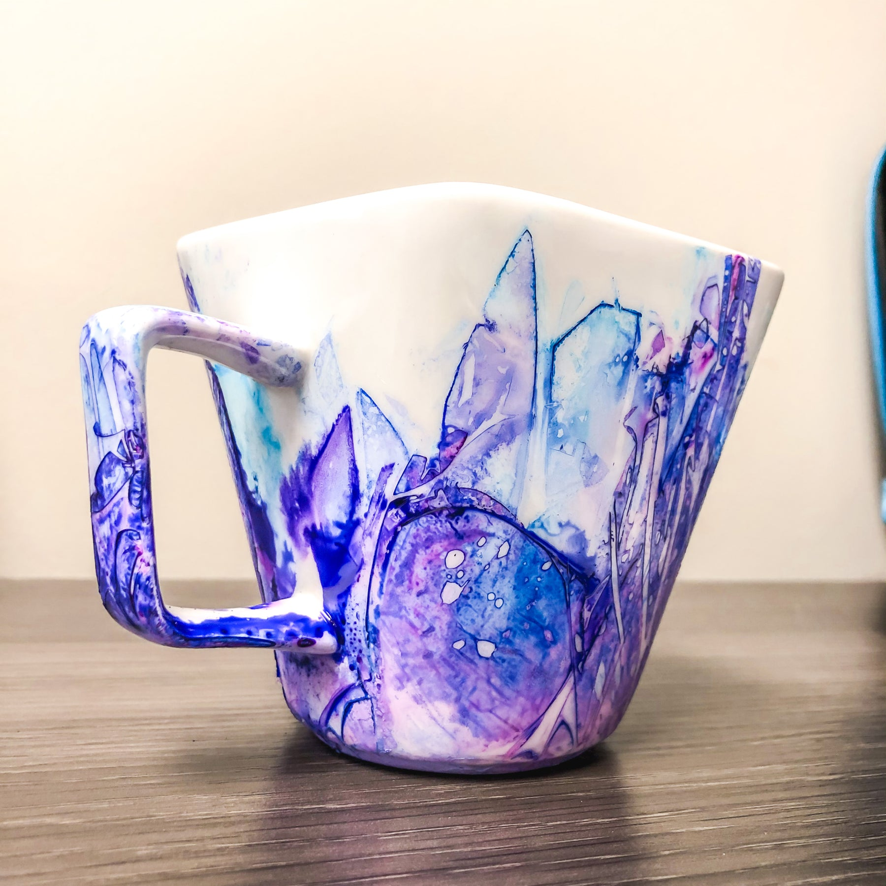 Alcohol ink, coffee cup, DIY
