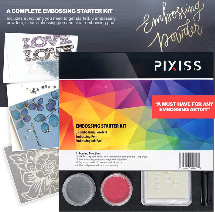 Pixiss Embossing Powder Bundle