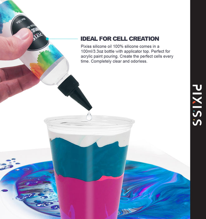 Pixiss Silicone Pouring Oil - For Creating Cells