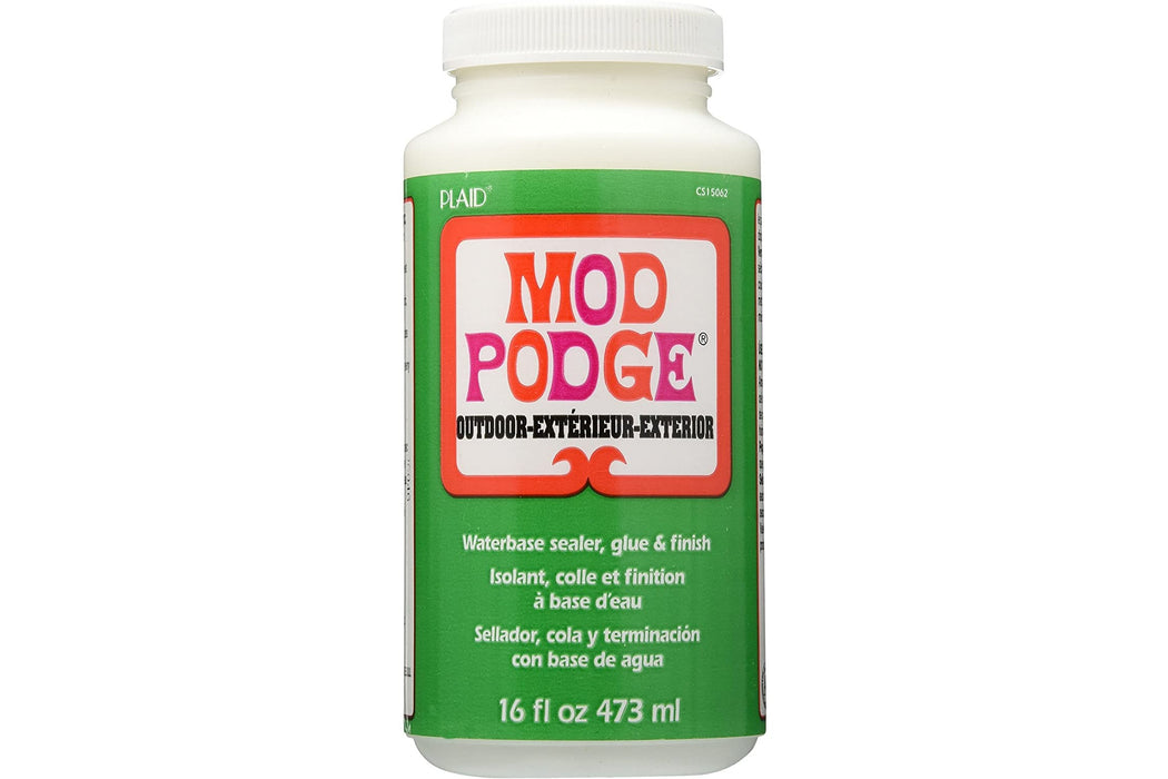 Mod Podge Waterbase Sealer, Glue and Finish for use Outdoors 16oz, White