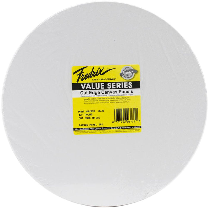 Tara Fredrix Round Cut Edge Canvas Panel 6/Pkg