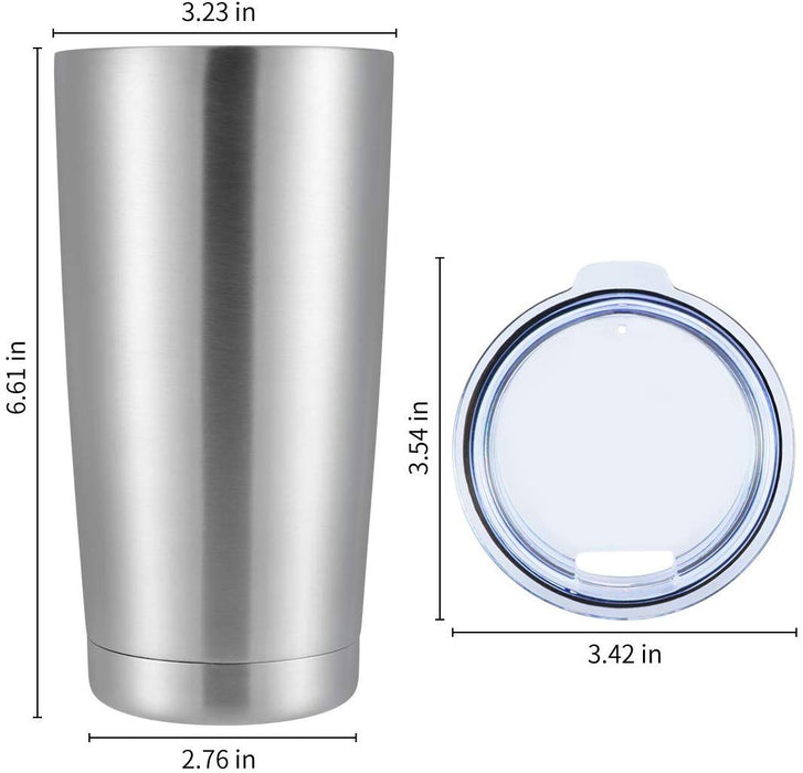 Pixiss Stainless Steel Tumblers; 12oz. (4, 6, 8, 12 Packs)
