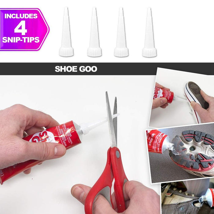 Shoe Goo Repair Adhesive Clear, 3.7oz. (109.4mL), Applicator Tips and Pixiss Spreader Tools Set