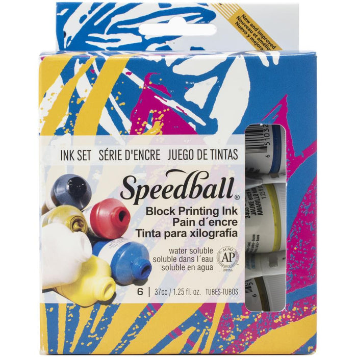 Speedball Block Ink Set 6/Pkg