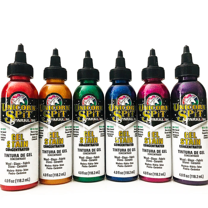 Unicorn Spit Sparkling Wood Stain & Glaze, 4oz. (6 Colors)