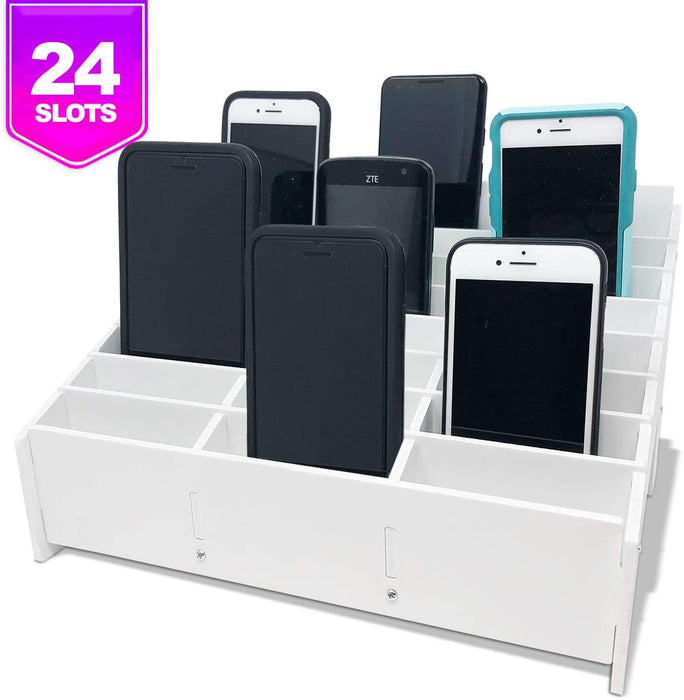 Pixiss 24 Slots Cell Phone Cubby Holder for Classrooms