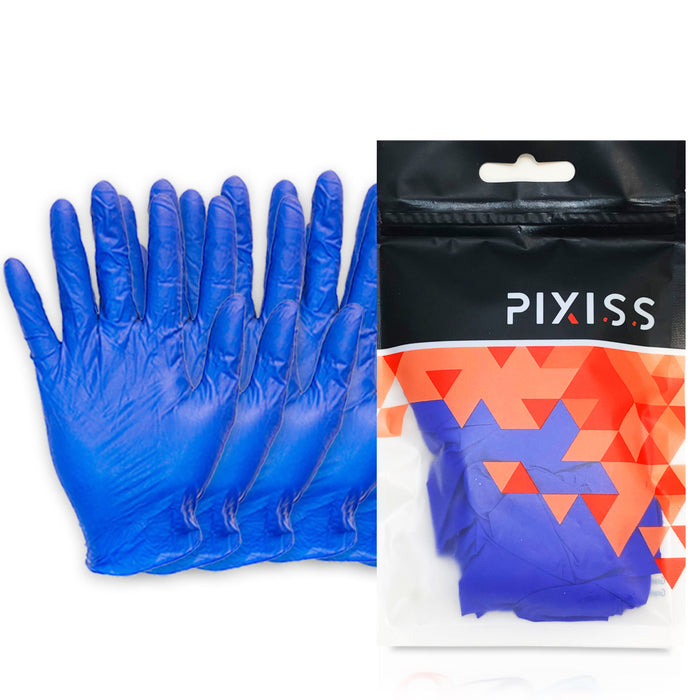 Pixiss Disposable Latex Gloves, Powder Free, 3 Pairs