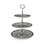 Black Regal Peacock 3-Tier Cake Stand Gift Boxed