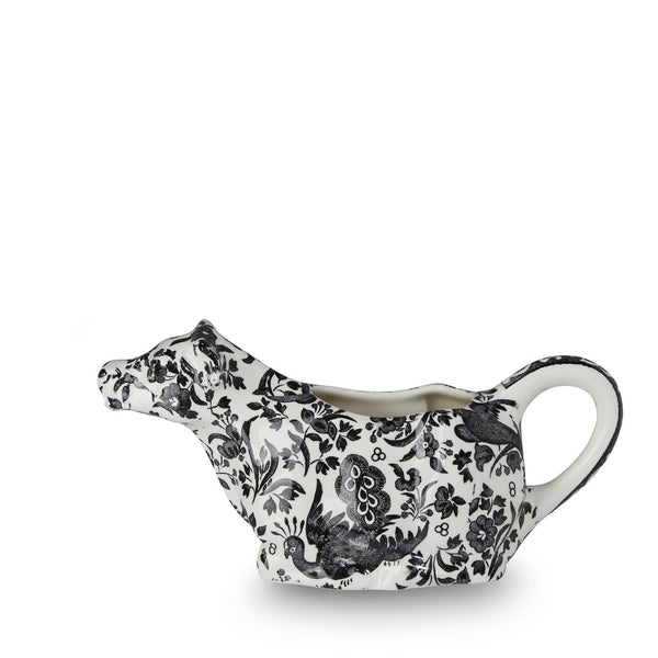 Black Regal Peacock Cow Creamer 5oz (150ml) Gift Boxed