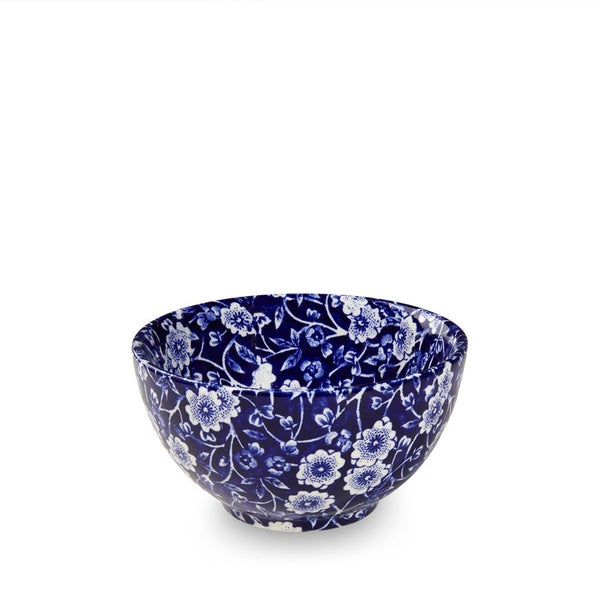 "Blue Calico small Sugar Bowl 4"" (9.5cm)"