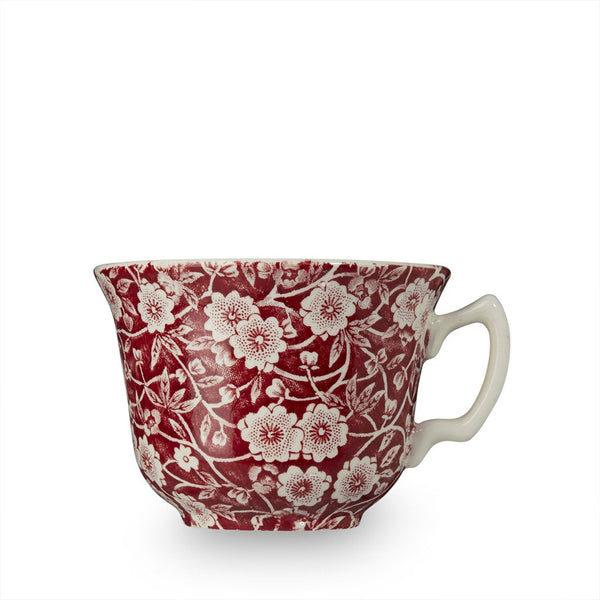 Red Calico Teacup 6oz (187ml)