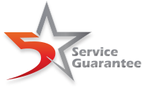 5 Star Service Guarantee