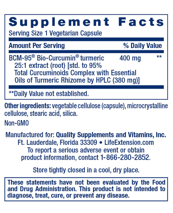 Life Extension Super Bio Curcumin BCM