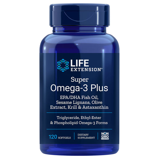 Life Extension Super Omega 3 Plus with Sesame Lignans, Olive Extract, Krill and Astaxanthin