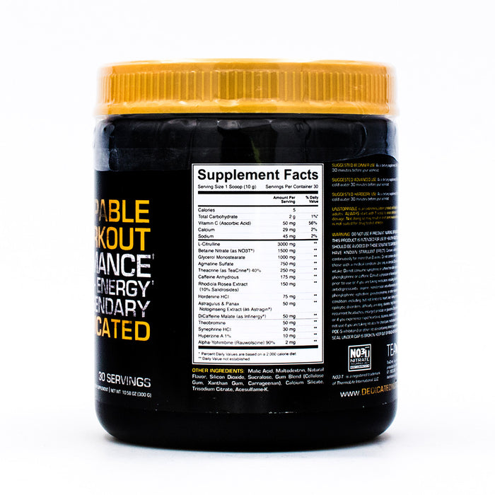 Dedicated Nutrition Unstoppable Pre-Workout
