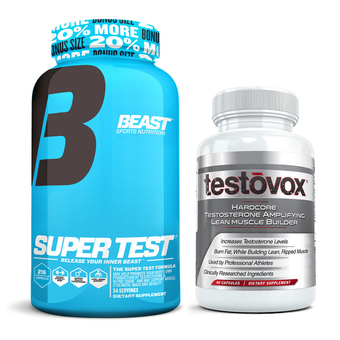 Beast Sports Nutrition Super Test + Testovox Combo
