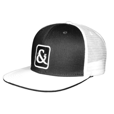 Black & White Badge Trucker