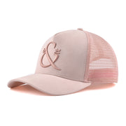 Luxe Suede Blush Trucker