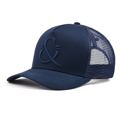 Navy Blue Trucker - NEW Now 6 Panel