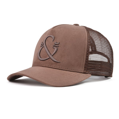 Luxe Suede Coffee Trucker
