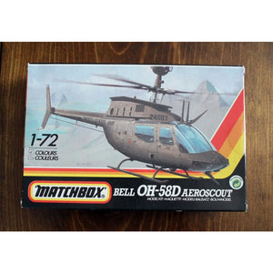 1/72 Bell Oh-58D Aeroscout Helicopter Model Kit Miniatures Games/historical Miniatures