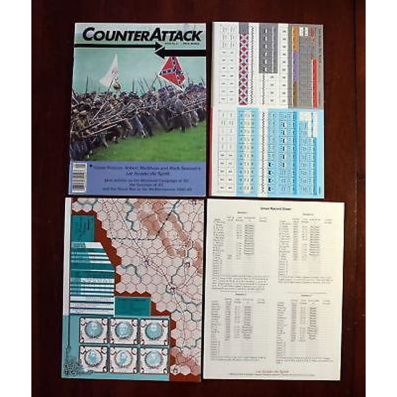 Counterattack Issue 2 With Lee Invades The North Game Board Games & Card Games/war Games