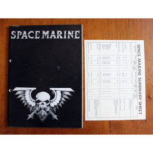 Epic Space Marine Rulebook 1St Edition + Summary Sheet Miniatures Games/science Fiction Miniatures/epic 40 000 & Titan Legions