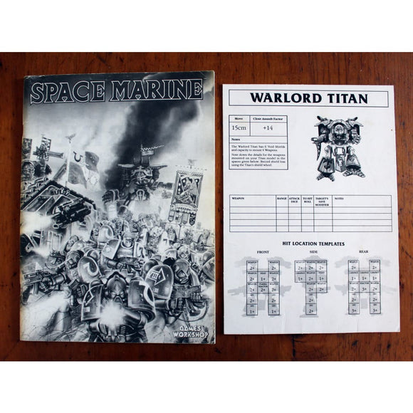 Epic Space Marine Rulebook 2Nd Edition + Titan Sheet Miniatures Games/science Fiction Miniatures/epic 40 000 & Titan Legions