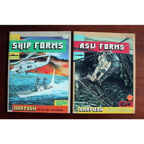 Harpoon War Game Ship Forms + Asw Forms Expansion Books Board Games & Card Games/war Games