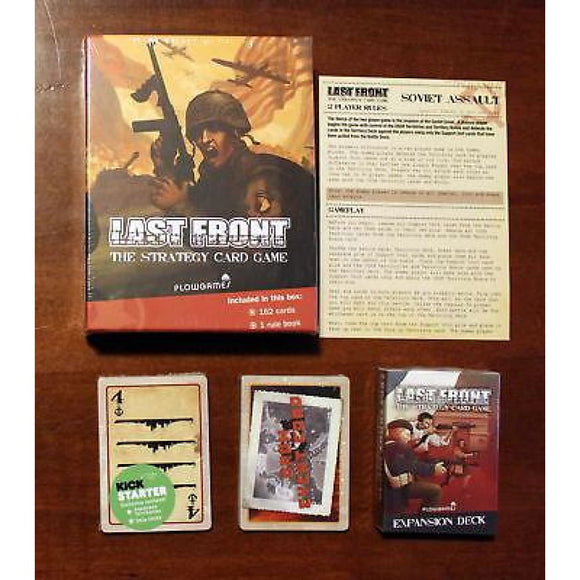 Last Front The Strategy Card Game + Expansion Deck + Kickstarter Exclusives Board Games & Card Games/war Games