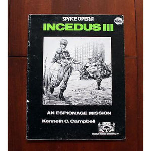 Space Opera Rpg Incedus Iii An Espionage Mission Adventure Role Playing Games/sci-Fi Rpgs