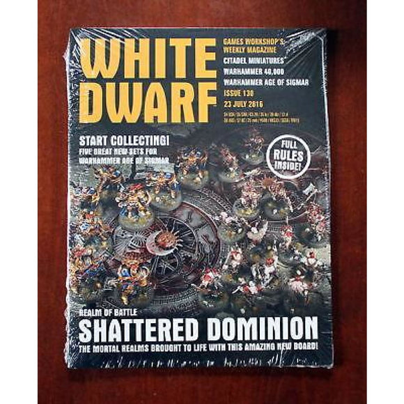 White Dwarf Weekly Issue 130 23 July 2016 Magazines/warhammer Magazines/white Dwarf (Weekly)
