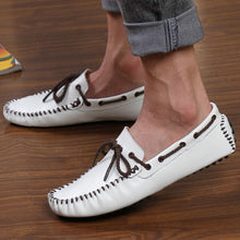 Merkmak New arrival Genuine Leather Flats Men's Casual Shoes Cowhide Driving Moccasins Slip On Loafers