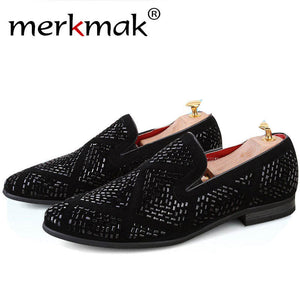 Merkmak New Spring Men's Shoes  Fashion Casual Oxfords Loafer Dress Driving Men Flats Footwear Shoes Zapato Hombre