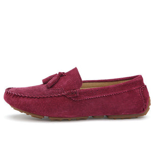 Merkmak Newly Men Flats Shoes Fashion Casual Genuine Leather Loafer Driving Footwear Men's Breathable Soft Moccasins