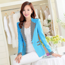 Pinky Is Black Female blazer outerwear spring and autumn plaid long sleeve slim casual blazer women suit jacket