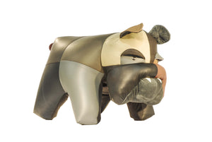 Bulldog Ottoman Genuine Leather