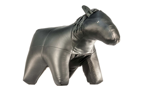 Horse Ottoman Genuine Leather