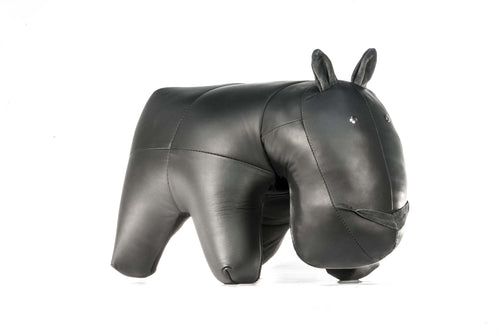 Hippo Ottoman Genuine Leather